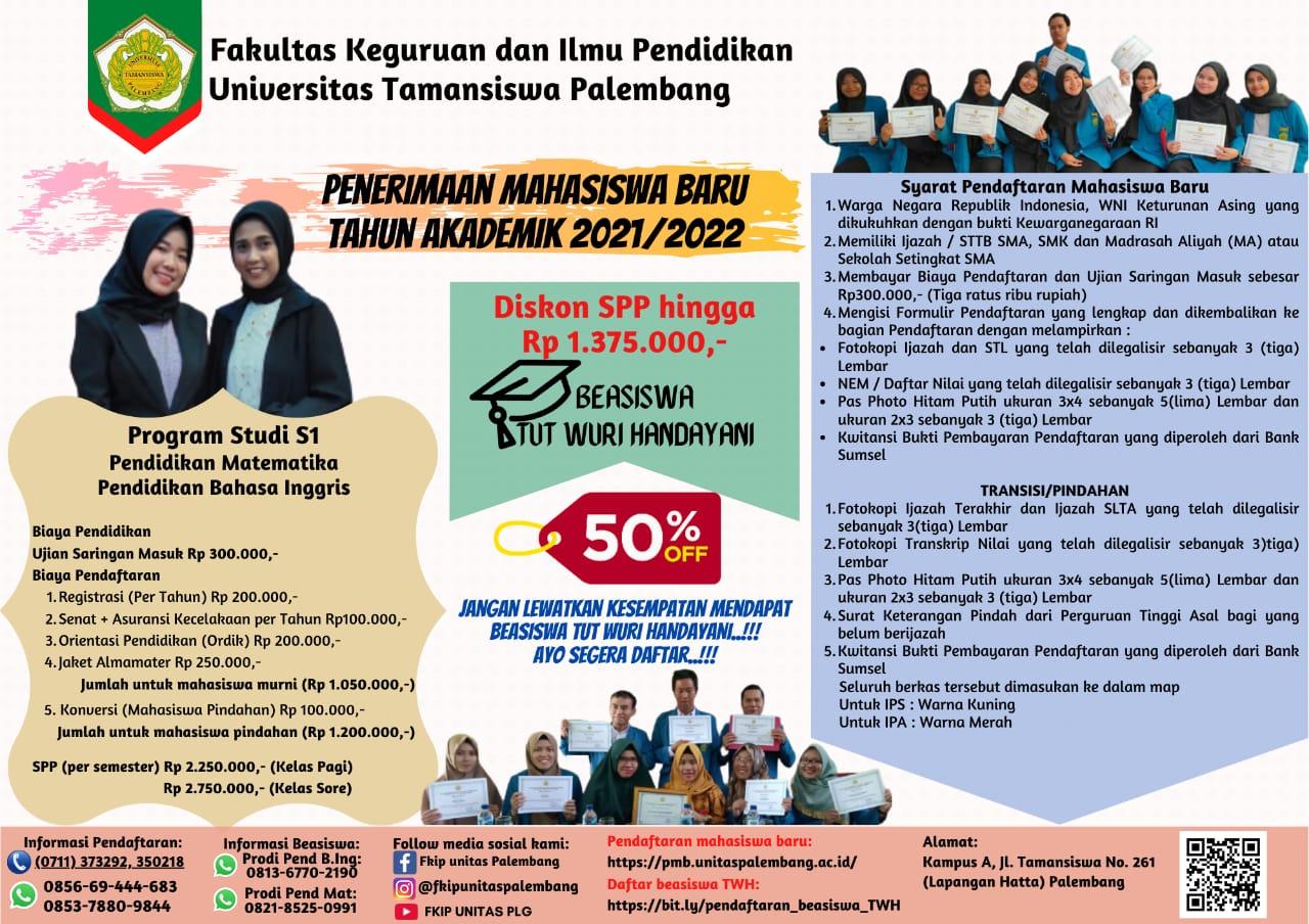 Panduan Program Beasiswa Tut Wuri Handayani, FKIP Universitas Tamansiswa Palembang
